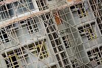 bamboo scaffolding in construction site