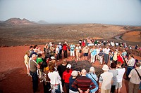 Timanfaya Volcanoe National Park in Lanzarote, Canary Islands, Spain