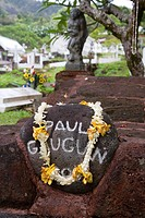 Paul Gauguin gravesite, Atuona, Marquesas Islands, French Polynesia