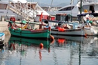 Fishing harbour, Ajaccio, Corsica, France