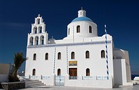 Main church of Panagia of Platsani, Oia, Santorini, Cyclades, Greek Islands, Greece, Europe