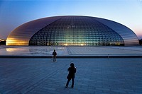 National Opera House building Paul Andreu architect,Beijing, China