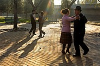 People dancing, in Temple of Heaven Park,Beijing, China