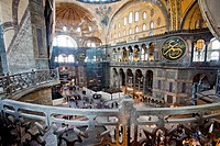 Byzantine architecture of Aya Sofya Hagia Sophia, constructed as a church in the 6th century by Emperor Justinian, a mosque for years, now a museum, U...