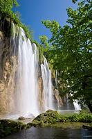 Veliki Prstavac falls, Plitvice Lakes National Park Plitvicka Jezera, UNESCO World Heritage Site, Lika_Senj County, Croatia, Europe