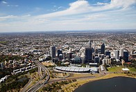 Aerial view of downtown Perth, Western Australia, Australia, Pacific