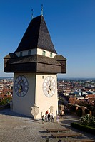 Schlossberg, Clock Tower, Old Town, UNESCO World Heritage Site, Graz, Styria, Austria, Europe
