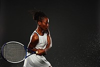 Female Tennis Player, Backhand Shot
