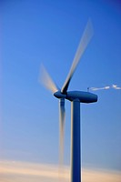 Wind turbine in the evening light