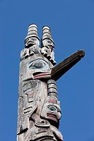traditional First Nation totem pole