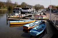 Boats moored at Henley Oxfordshire