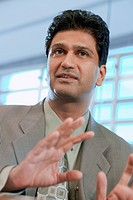 Indian businessman gesturing