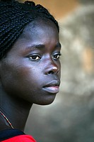Africa, Guinea_Bissau, Black woman looking away