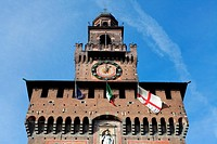 The Sforza Castle Castello Sforzesco, Milan, Italy