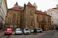 Sv Martin church along Martinska street old town Prague Czech Republic Europe