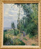 Côte des Grouettes, near Pontoise, 1878, by Camille Pissarro, French, Oil on canvas, 29 1/8 x 23 5/8 in  74 x 60 cm, Metropolitan Museum of Art, New Y...
