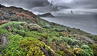 Stoney Hill lookout in Torndirrup National Park during a storm
