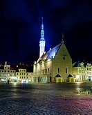 Unusual view of Tallinn town hall