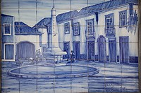 Portugal, Algarve, Ferragudo in blue tiles                                                                                                            ...
