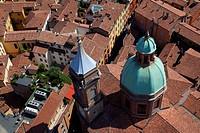 Italy, Emilia_Romagna, Bologna roofs ...