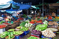 Vegetables market, Hué, Vietnam