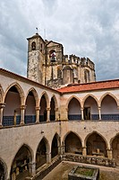 Washing cloister and Round Church of Convent of the Order of Christ in Tomar Portugal