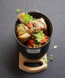 Braised veal knuckles with white beans