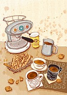 Illustration of coffee break
