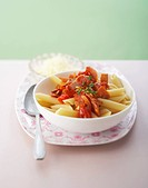 Penne with calabrese and tomatoes