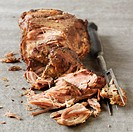 Pulled pork with carving fork