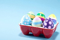 Multi colored Easter eggs with different designer patterns