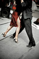 Tango dancers, San Telmo neightborhood, Buenos Aires, Argentine