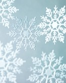 Snowflake Ornaments on Neutral Background