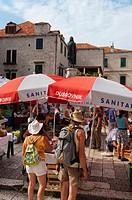 Street market, Dubrovnik, Dubrovnik-Neretva county, Croatia, Europe