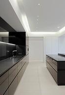 Modern showcase interior of kitchen