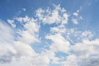 Cumulus clouds in springtime sky