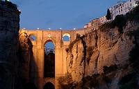 ´Tajo´ y Puente Nuevo, Gorge and New Bridge, Ronda, Malaga-province, Region of Andalusia, Spain, Europe,