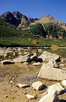 View of the Jahnaci stit from the tarn ´Velke Biele pleso´ in High Tatras, Slovakia