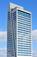 The KBC Arteveldetoren / MG Tower, tallest office building in the federal region of Flanders, Ghent, Belgium