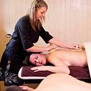 Women exfoliation thalassotherapy