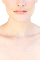 Woman´s upper chest.
