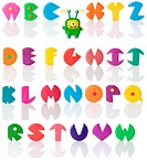 Plasticine alphabet 3 , Isolated