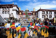 The Jokhang, also called the Qokang Monastery, Jokang, Jokhang Temple, Jokhang Monastery or Zuglagkang, is located on Barkhor Square in Lhasa. For mos...