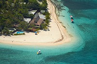 Aerial view of Beachcomber Island Resort, Beachcomber Island, Malolo Island, Mamanuca Islands, Fiji