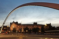 View of Las Ventas at night. Madrid, Spain