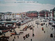 vintage postcard of Marseille