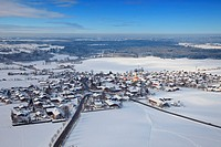 View on Bad Wiessee am Tegernsee, Bavaria, Germany, aerial shot