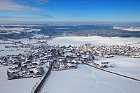 View on Bad Wiessee am Tegernsee, Bavaria, Germany, aerial shot