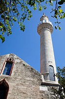 Turkey, Bodrum, Castle, Mosque Minaret