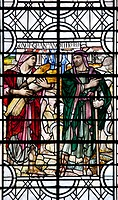 England, Salisbury, Salisbury Cathedral, Stained Glass Window, Boaz and Ruth